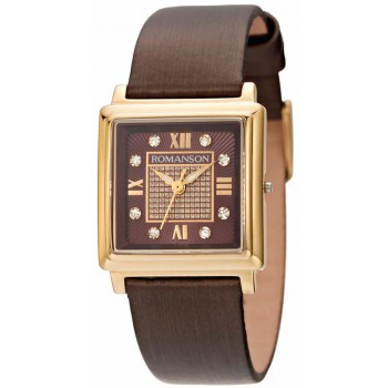 Женские часы Romanson RL1242LG BROWN